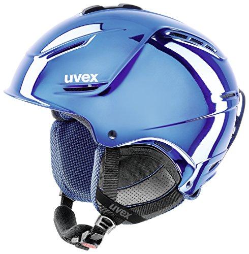 Uvex Erwachsene P1us pro Chrome LTD Skihelm, Blue, 59-62
