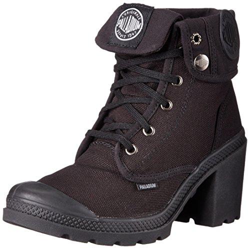 Palladium BAGGY  HEEL, Sneaker alta donna, Nero (Schwarz (BLACK/HI-RISE 062)), 36