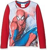 DC Comics Spiderman Drawn, T-Shirt Bambino, Rosso (Red 19-1763TC), 5-6 Anni