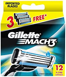 Gillette Mach3 Refill - 9 Cartridges with Free 3 Cartridges