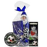 Hamburger SV Weihnachtspaket Schokolade, Schokokugeln, Weihnachtsmann HSV + GRATIS je 1 x Aufkleber & 1 x Lesezeichen