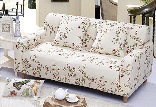 fanjow Stretch Elastischer Stoff Stuhl Liebesschaukel Sofa Couch Strechhusse Floral Druck Sofa Abdeckungen Fahrzeugsitz, ohne Kissen, Textil, Spring Dawn, 3-seat Sofa (Arm-stuhl-seat-kissen)