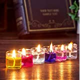 Cocodoes Glass Small Pencil Candles Set Of 18pcs For Festival Home Decorative Anniversary Birthday Christmas 2.5x2.5cm