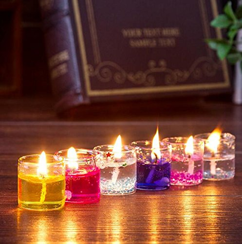 Cocodoes Glass Small Pencil Candles Set of 18pcs for festival home decorative...