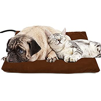 GOOBAT Coussin chauffant pour animal domestique, Warmer Couverture chauffante Puppy Lit, électrique chauffant pour chiens et chats, 40 x 30 cm