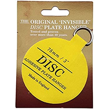 Disc 75mm Adhesive Plate Hanger  sc 1 st  Amazon UK & Pack of 5 Self Adhesive Plate Hanger 100mm Size / Stick On Plate ...