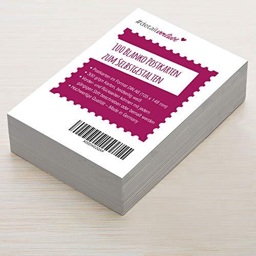 Vielseitige Blanko Postkarten zum Selbstgestalten I dv_355 I DIN A6 I 100er Set DIY Grußkarten weiß I zum Beschreiben Bemalen Gestalten