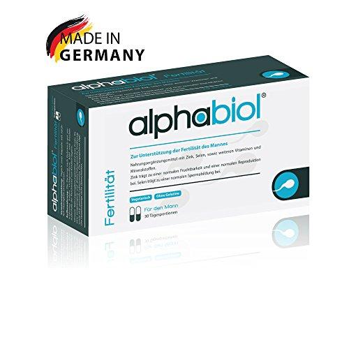 alphabiol Fertilität für den Mann für die normale männliche Fruchtbarkeit, die normale Spermienproduktion und die normale Reproduktion