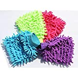 #10: Multi Purpose Micro Fiber Washing Gloves Single Side Gloves (Pack of 1) (Random Color will be shipped)