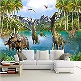 Mddjj 3D Fantasy Papier Peint Dinosaure Era Grande Peinture Pour Enfants Salon Canapé Chambre Tv Toile De Fond Murale Mur Papier-Nature-120X100Cm