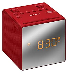 sony icf c1t fm am dual alarm clock radio with mirror finish red tv. Black Bedroom Furniture Sets. Home Design Ideas