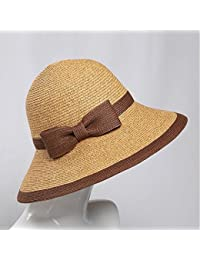 Honey Cappello di Paglia delle Donne Ombra Stagione Estiva Pieghevole della  in Riva al Mare Berretto da Spiaggia… be09493b94a9