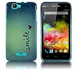 Wiko Rainbow Schutz-Hülle Silikon Smile (NICH FÜR Rainbow Jam) weiche Tasche Cover Case Bumper Etui Flip smartphone handy backcover thematys®