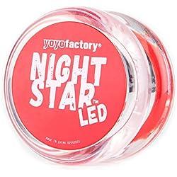 Yo-yo NightStar LED Light Up Yoyo by YoyoFactory - Rojo (Accende Yoyo, Cuscinetto, trucchi, ideale per i principianti)