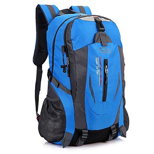 ZCL leicht Wandern Rucksack, 30L wasserabweisend Nylon Day Pack Camping Klettern Reisen Rucksackreisen, unisex Blau