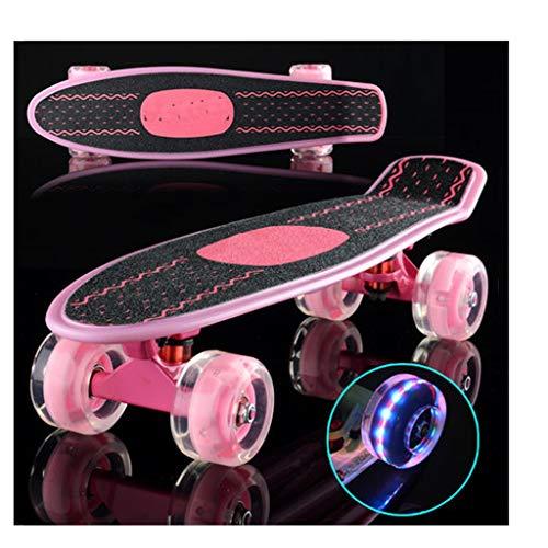 SGLI Skateboard/principiante Adulto/Viaggio/Ragazza/Monopattino monoposto (Colore : A)