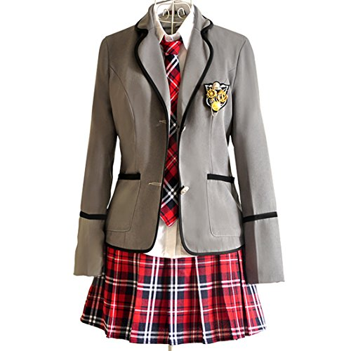 URSFUR Mädchen Japan Kostüm Langärmelige Anzug Cosplay Uniform Anime Uniform - Stil (Kostüme Militär Mädchen)