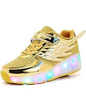 Mr.Ang con Luces LED Coloridos Parpadeante Neutra ruedas de Patines de Rueda Patín Zapatos Zapatos del Patín Zapatos...