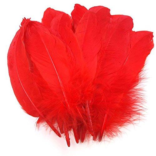 Rote Feder Kostüm - maDDma ® 20 Enten-Federn 15-21cm Bastelfedern