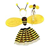 Prettyia Bienenflügel-Set Super süßes Bienen / Bee - Kostüm mit Flügeln Rock Kopfschmuck für Fasching Karneval Halloween Kostüm