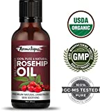 #10: Rosehip Seed Oil 100% Pure & Natural Cold pressed ,Therapeutic Grade Oil From Aromatique (USDA Certified Organic) (30ml)