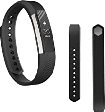 Voberry Replacet Wrist Band Silicone Strap Clasp+Protector Film for Fitbit Alta Hr 38mm Black