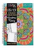 Agenda scolaire à spirale 2018-2019 - Format A5 - Agenda à colorier soi-même - De couleur verte