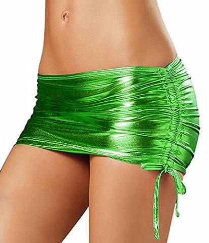 Awake de femmes métallique côté réglable cordes Ties Mini-jupe