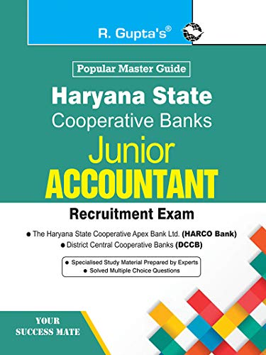 Haryana State Cooperative Banks: JUNIOR ACCOUNTANT Recruitment Exam Guide