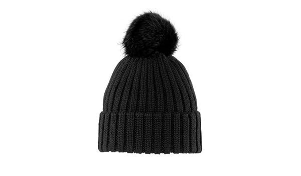 VITAMIN FUR NERO cappello Pelliccia Lapin BELEN cuffia bearnie cap hute   Amazon.it  Abbigliamento 65ff8ff9e9e1