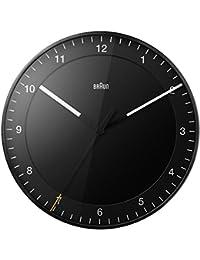Marrón Relojes de Pared Analógico plástico Black bnc017bkbk