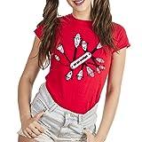 T-Shirt Ispettore Gadget Multiuso - Cartoon by Eighteen - Donna-XL-Rossa