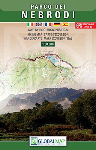 Sizilien Wanderkarte: Parco dei Nebrodi / Naturpark Nebrodi 1:50.000 ( Nordwest Sizilien, Randazzo, Mistretta, Capizzi, Sant'Agata di Milltello, Tortorici, Marina di Caronia) – LAC / Globalmap