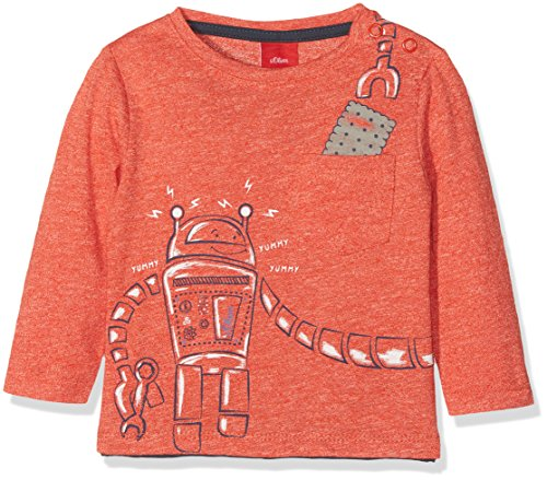 s.Oliver Baby-Jungen Spieler T-Shirt Langarm, Rot (Red Multicolored Stripes 30S1), 86
