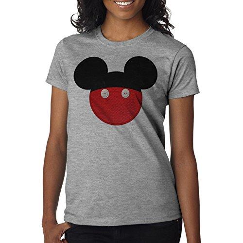 Mickey Mouse Disney Dope Icon Swag Colour Two Matterial Colours Damen T-Shirt Grau