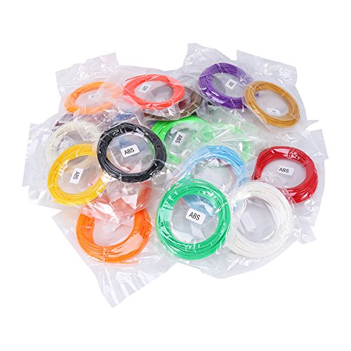 20 Rouleaux de Filaments 1.75mm 20 Couleurs pour Imprimante 3D 10m/Rouleau