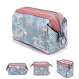 makeup bag/viaggio cosmetici, kit da toilette/spazzola della moda donna gioielli organizer con cerniera YKK Electronics accessori hard drive Carry case Portable Cube borsetta Flamingo 16 x 10 x 2.5 cm