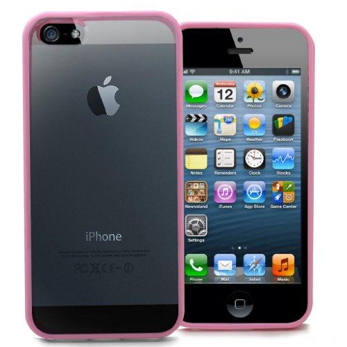 Accessory Master 5055716366419 Rosa Stoßstange hybride Hart Schutzhülle für Apple iPhone 5G (Master-stoßstange)