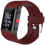 JANLY Bracelet en caoutchouc silicone pour montre Polar V800 Watch (Rouge)
