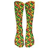 sexy world Burkina Faso Flag Artascope Flower Compression Socks Soccer Socks High Socks Long Socks...