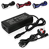 Kuyal 42V 2A Power AC Adapter For Self Balancing Hoverboard Balance Unicycle Skateboard Two Wheel Smart Drifting Board, Universal Charger For Electric Scooters with 36V Lithium ion Battery Pack