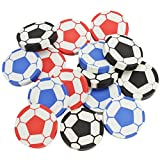 com-four® 15x Gomme de Football, 4,5 cm, en différentes Couleurs, idéal comme Cadeau ou pour Le Cartable (15 pièces - Football)