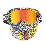 KnBoB Skibrille Für Brillenträger Herren Motorradbrillen Für Crosshelm Ski Maske Baumwolle A01-Multicolor