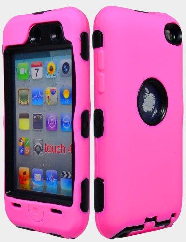 Bastexwireless Bastex Hybrid Armor Hülle für Apple iPod Touch 4, 4. Generation-Pink Silikon Skin/Schwarz Hard Ipod Touch 4 Hybrid