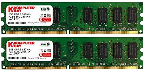 Komputerbay - Memoria DIMM para PC, 4GB (2 x 2GB), DDR2, 667MHz, PC2-5