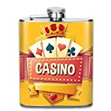 FGRYGF Pocket Container for Drinking Liquor, Petaca For Liquor Men's Casino (3) Stainless Steel Bottle Unisex
