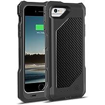 [Apple MFi Zertifiziert] MoKo 3500mAh Power Bank Akku Hülle Aufladbare Externe Batterie Ladehülle Backup Accu Charging Smart Battery Case Cover für Smartphone Apple iPhone 6 4.7 Zoll, Schwarz