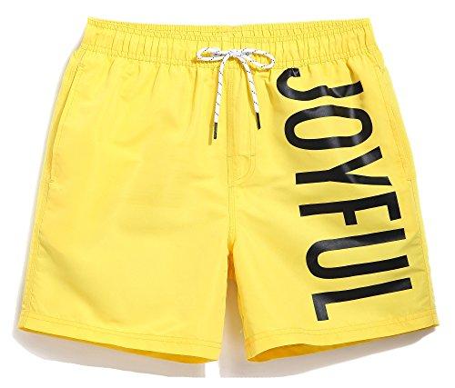 MaaMgic Herren Badeshort GMA726-Yellow