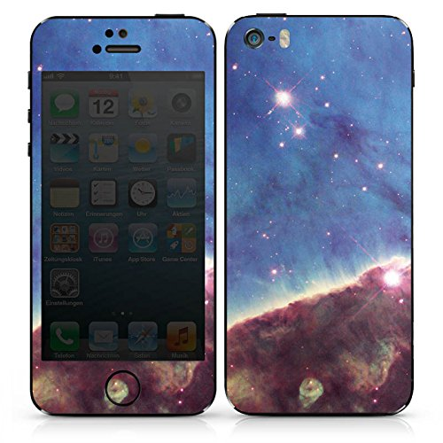 Apple iPhone 4 Case Skin Sticker aus Vinyl-Folie Aufkleber Gabriela Mistral Nebel Space Galaxy DesignSkins® glänzend