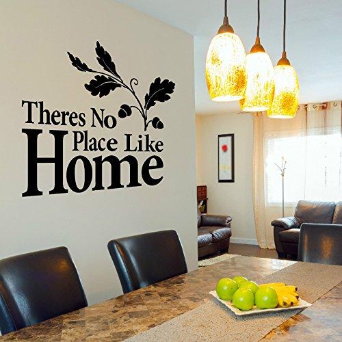 Es gibt keinen Ort wie zu Hause Vinyl Wandkunst Aufkleber Zitat zeitgenössische Innenwanddekoration Kunst 57x44cm